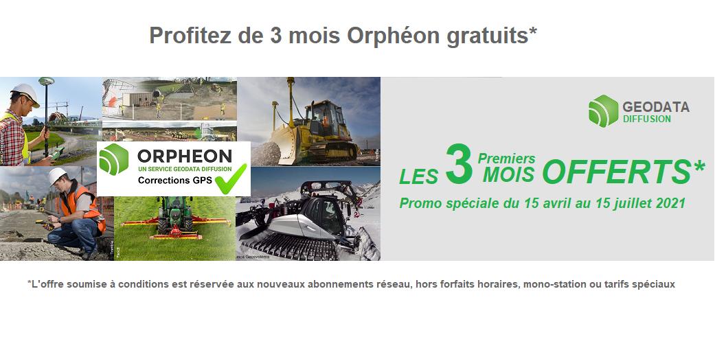 Profitez de 3 mois Orphéon Gratuits* du 15 avril au 15 Juillet 2021