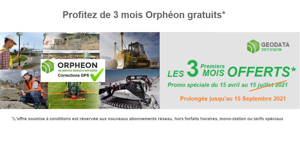 Profitez de vos 3 premiers mois Orphéon Gratuits* du 15 avril au 15 Septembre 2021